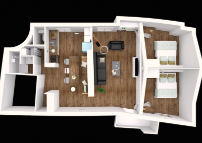 Design d'un petit appartement